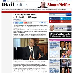 Germany's economic colonisation of Europe
