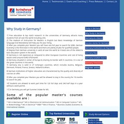 Why Study In Germany, Education in Germany: Summer Intake for MS in Germany