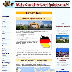 Germany Facts: Useful Facts on Germany for Kids: