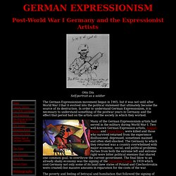 Post-World War I Germany and German Expression