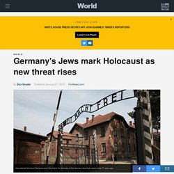 Germany's Jews mark Holocaust as new threat rises