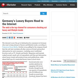 Germany's Luxury Buyers Head to the Internet