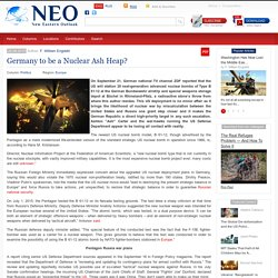 Germany to be a Nuclear Ash Heap?