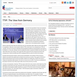 TTIP: The View from Germany