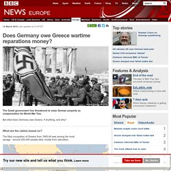 Does Germany owe Greece wartime reparations money?