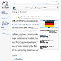 Energy in Germany