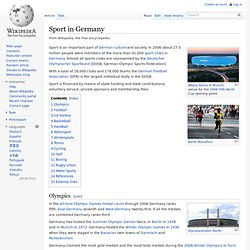 Sport in Germany