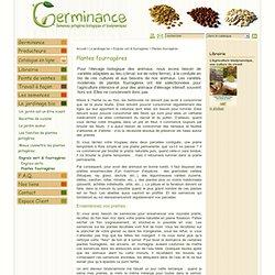 Plantes fourragères pour l'élevage biologique des animaux