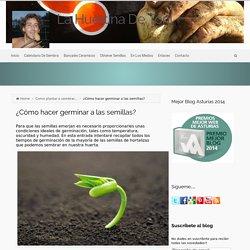 ¿Cómo hacer germinar a las semillas?