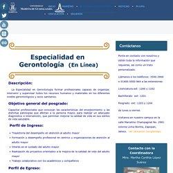 Gerontología (en línea)