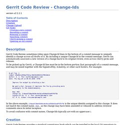 Gerrit Code Review - Change-Ids