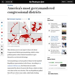 America's most gerrymandered congressional districts