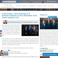Gersowitz, Libo & Korek, P.C. Partners Named to the 2018 NY Super Lawyers List