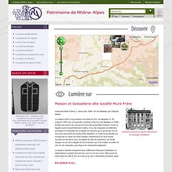 Dossiers électroniques de l'Inventaire général du Patrimoine Culturel de Rhône-Alpes