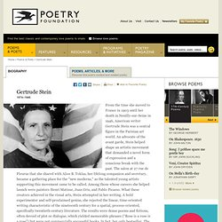 Gertrude Stein : The Poetry Foundation : Find Poems and Poets. Discover Poetry.