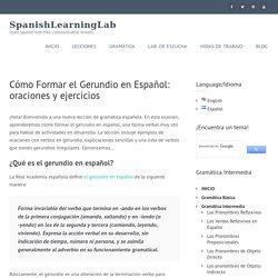 Cómo Formar el Gerundio en Español: oraciones y ejercicios