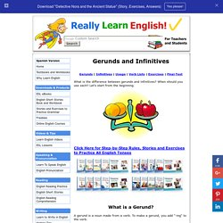 Gerunds and Infinitives: rules, exercises and quizzes