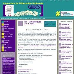 IEN St Gervais / Pays du Mont-Blanc - DÉFI MATHÉMATIQUES - Cycle 3 - 6ème