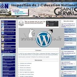 IEN St Gervais / Pays du Mont-Blanc - Tout ou presque tout sur mon site internet d'école sous WordPress