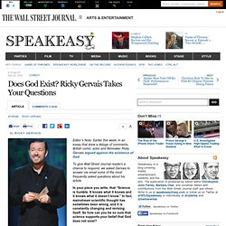 Does God Exist? Ricky Gervais Takes Your Questions
