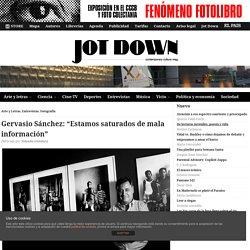 """Gervasio Sánchez: """"Estamos saturados de mala información"""""""