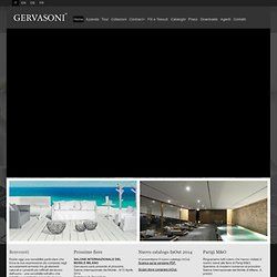 it : GERVASONI SPA - Furniture Industry Since 1882