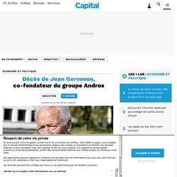 Décès de Jean Gervoson, co-fondateur du groupe Andros