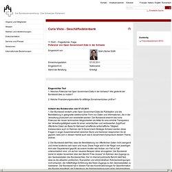 11.5040 - Potentiel des données publiques ouvertes en Suisse - Curia Vista - Base de données d'entreprise - L'Assemblée fédérale - Le Parlement suisse
