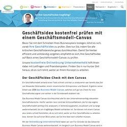 Geschäftsidee Check auf Basis des Business Model Canvas