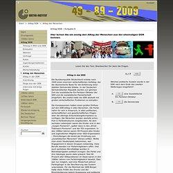 Deutsch-deutsche Geschichte für Deutschlerner - Alltag DDR - Alltag der Menschen -Goethe-Institut