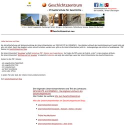 Geschichtszentrum - Virtuelle Schule fuer Geschichte