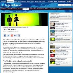 """Schweden führt geschlechtsneutrales Fürwort ein: """"Er"""", """"sie"""" und ...?"""