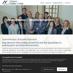 Notar/Notariat Mag. Hofer & Pail Gesellschaftsrecht in Judenburg