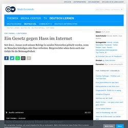 Ein Gesetz gegen Hass im Internet