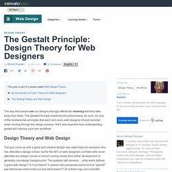 The Gestalt Principle: Design Theory for Web Designers