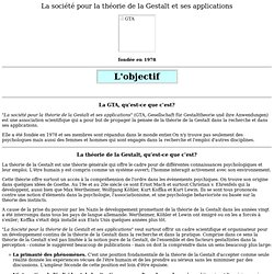 GESTALT: Societe pour la theorie de la Gestalt (GTA)
