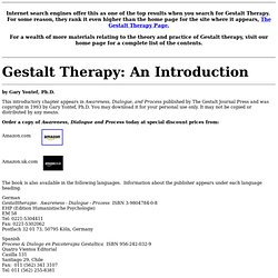 Therapy: An Introduction