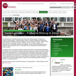 Europa gestalten – Politische Bildung in Aktion