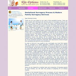 Gestational Surrogacy Services