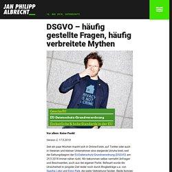 DSGVO – häufig gestellte Fragen, häufig verbreitete Mythen › Jan Philipp Albrecht