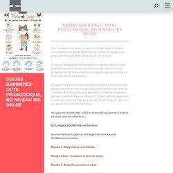 Gestes barrières- Outil pédagogique, BD niveau 1er degré