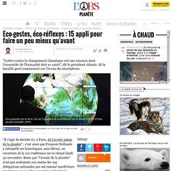 Eco-gestes, éco-réflexes : 15 appli pour faire un peu mieux qu'avant