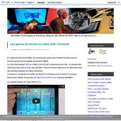 Les gestes du tactile en vidéo (IOS / Android)