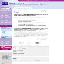Gestión de la Capacidad - Proceso - Recursos