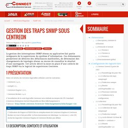 Gestion des traps SNMP sous Centreon / GLMF-160