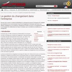 La gestion du changement dans l'entreprise