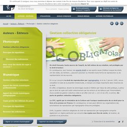 Gestion collective obligatoire