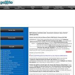 EBP Gestion Commerciale: Comment relancer mes clients? (4ème partie)