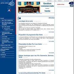 Gestion commerciale - Vente - RESSOURCES