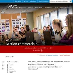 Gestion commerciale - Cégep de Sainte-Foy